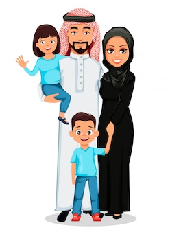 Glückliche arabische familie