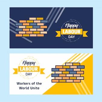 Glückliche arbeitstagesfahne
