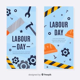 Glückliche arbeitstagfahnen