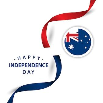 Glückliche australien-unabhängiger tagesvektor-design-illustration
