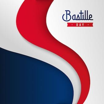 Glückliche bastille-tageshintergrundillustration. französische nationalfeiertagsillustration
