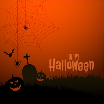 Glückliche beängstigende thema-festivalillustration halloweens