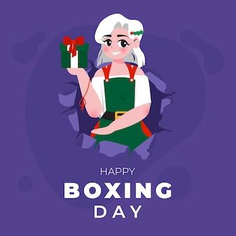 Glückliche boxing day illustration