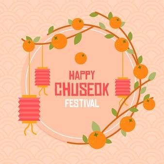 Glückliche chuseok-illustration