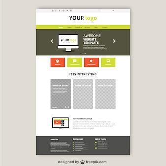 Glückliche design für website-templates