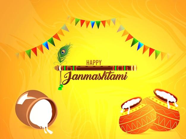 Glückliche diwali-feier-grußkarte mit kreativem makhan mataki