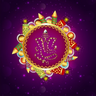 Glückliche diwali-feier-grußkarte