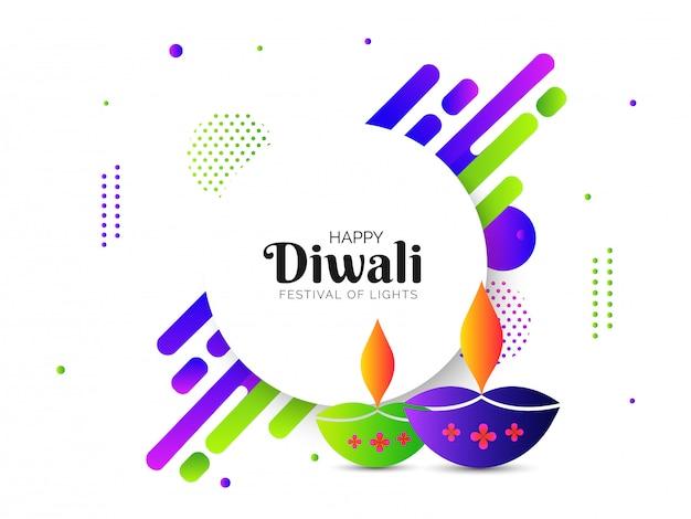 Glückliche diwali-feiergrußkarte