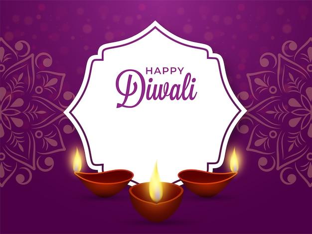 Glückliche diwali-grußillustration