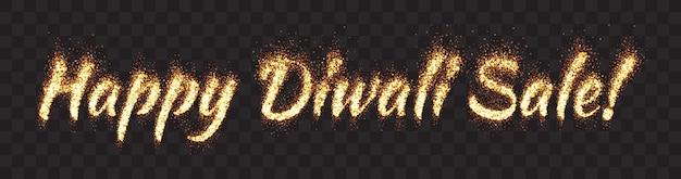 Glückliche diwali-verkaufs-text-fahne