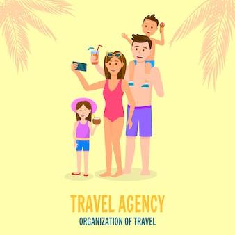 Glückliche familie in den sommerferien