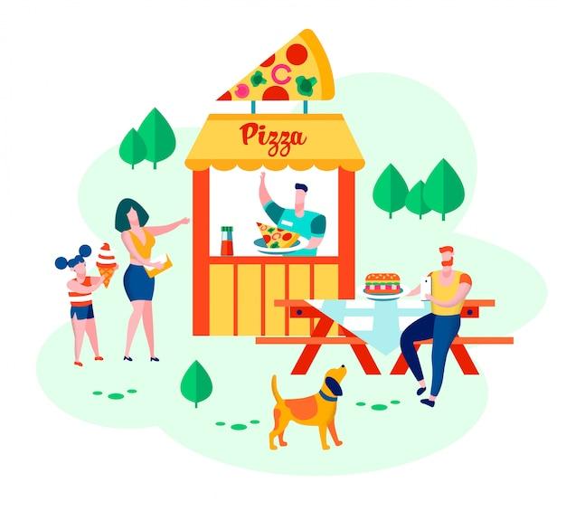 Glückliche familie von mutter, vater, tochter und hund