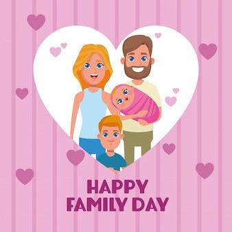 Glückliche familientageskarte