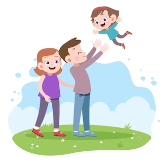Glückliche familienvektorabbildung