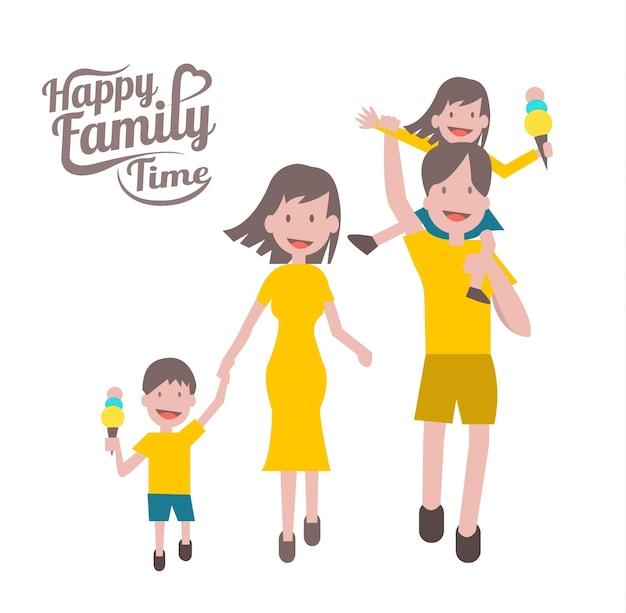 Glückliche familienzeit