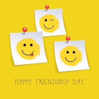 Glückliche freundschafts-tagesgruß-karte freund-feiertags-fahne
