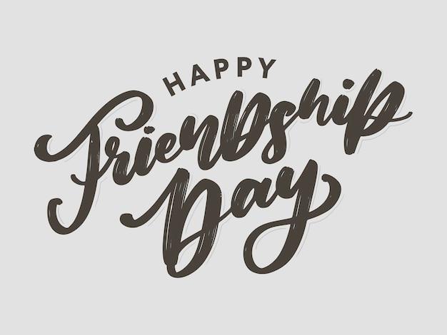 Glückliche freundschaftstag grußkarte