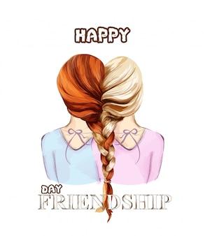 Glückliche freundschaftstageskarte