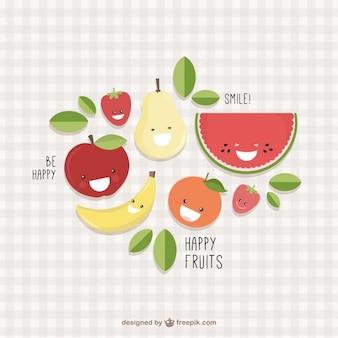 Glückliche früchte