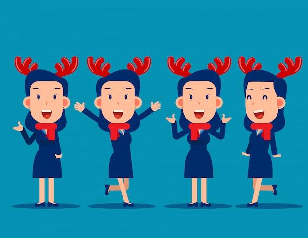 Glückliche geschäftsleute weihnachtsfeier