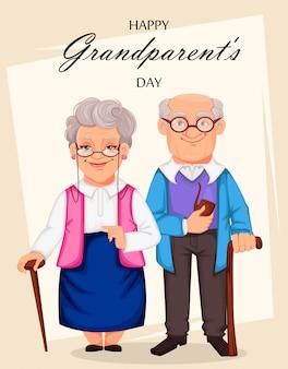 Glückliche großeltern-tagesgrußkarte