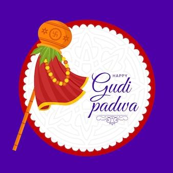 Glückliche gudi padwa festival banner design vorlage