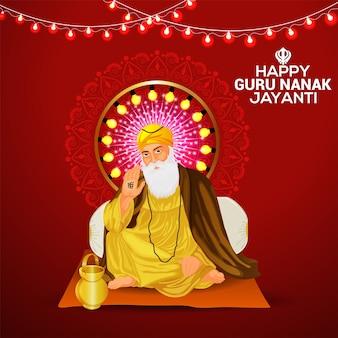 Glückliche guru nanak jayanti feier