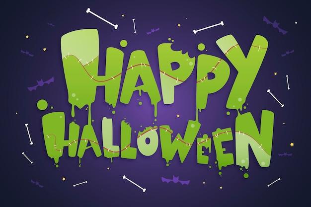 Glückliche halloween-beschriftungsschablone
