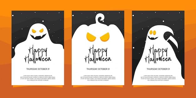 Glückliche halloween-einladungs-illustration