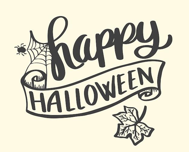 Glückliche halloween-fahne für plakat halloween-partei.