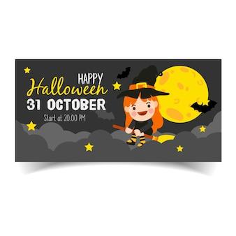 Glückliche halloween-fahne.