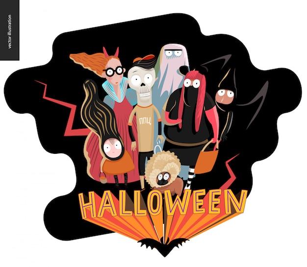 Glückliche halloween-grußkarte