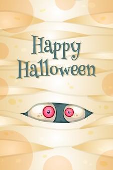 Glückliche halloween-grußkartenschablone