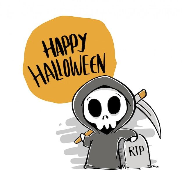 Glückliche halloween-hand gezeichnet