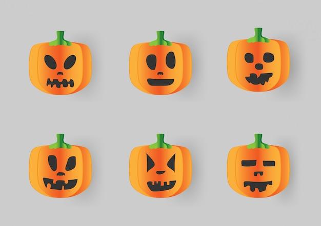 Glückliche halloween-kalligraphie mit papierfahnen-party einladung.