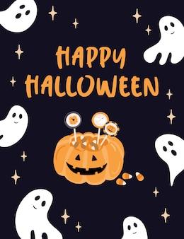 Glückliche halloween-karte.