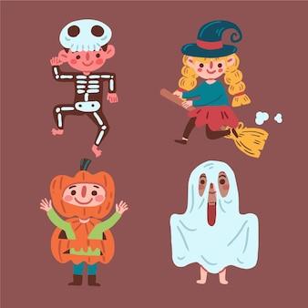 Glückliche halloween-kinderkollektion
