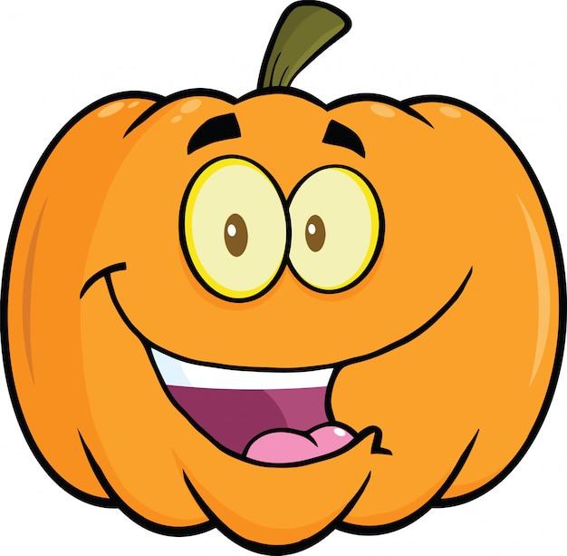 Glückliche halloween-kürbis-karikatur-maskottchen-illustration