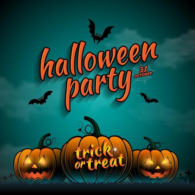 Glückliche halloween-party süßes sonst gibt's saures kürbise