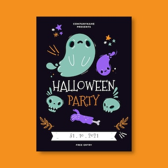 Glückliche halloween-plakatschablone