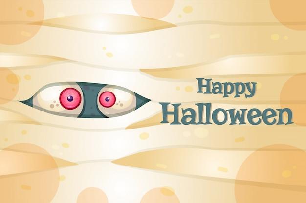 Glückliche halloween-postkartenschablone