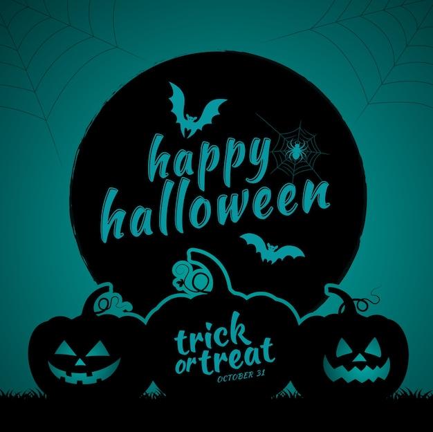 Glückliche halloween süßes sonst gibt's saures kürbise