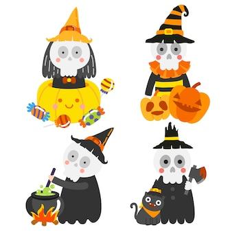 Glückliche halloween-vektor-illustration.