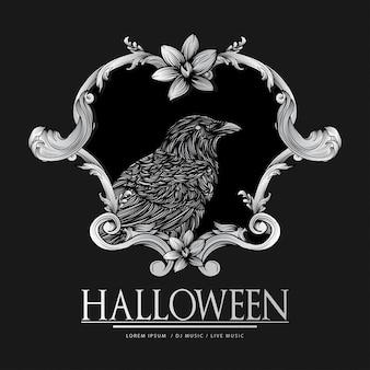 Glückliche halloween-weinlese