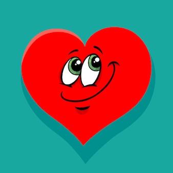 Glückliche herz valentinsgrußkarikaturillustration