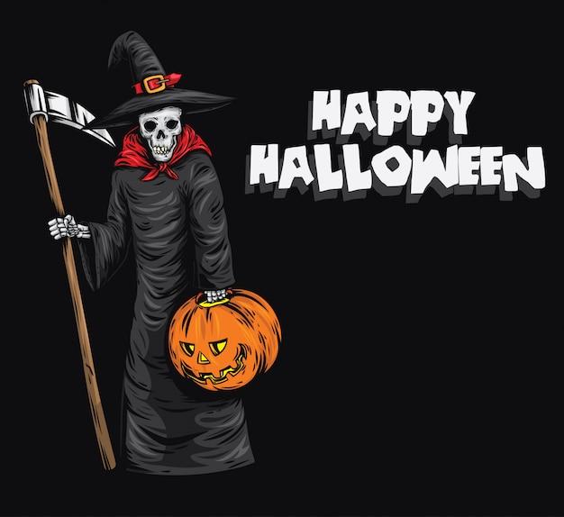 Glückliche hexe halloween
