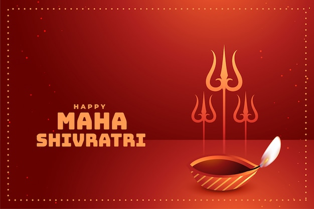 Glückliche hindische festivalgrußkarte maha shivratri