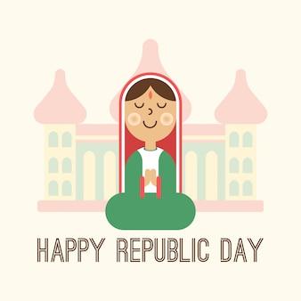 Glückliche indien-tag der republik-illustration