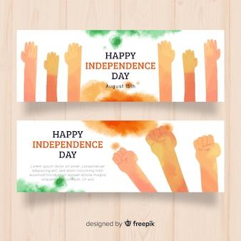 Glückliche indien-unabhängigkeitstagfahnen