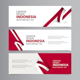 Glückliche indonesien unabhängigkeitstag feier kreative vorlage